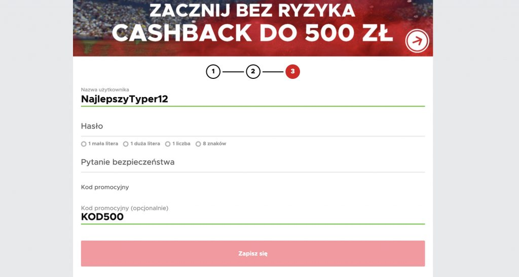Cashback powitalny Betclic do 500 PLN!